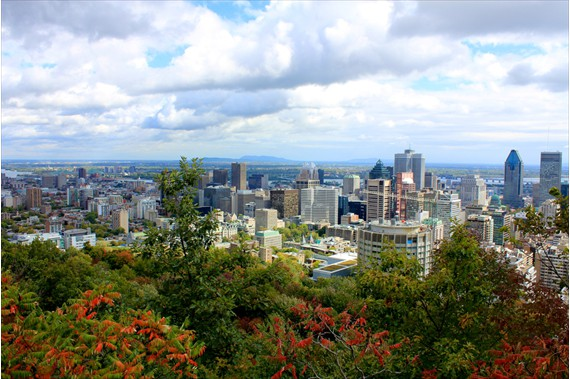 Montreal, viewed from Mount Royal
